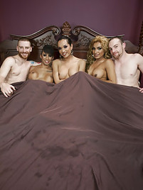 Female and shemale orgy